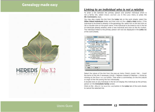 Heredis Mac X.2 - User's Guide/Manual
