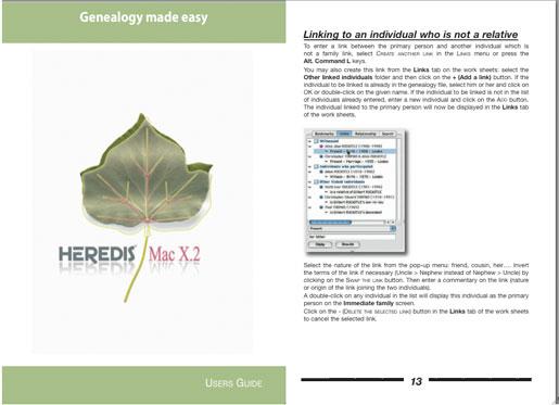Heredis Mac X.2 - User's Guide/Manual