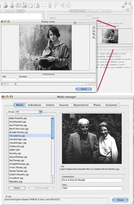 Heredis  Mac X.2 - Media Handling