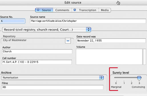 Heredis Mac X.2 - Surety/Reliability