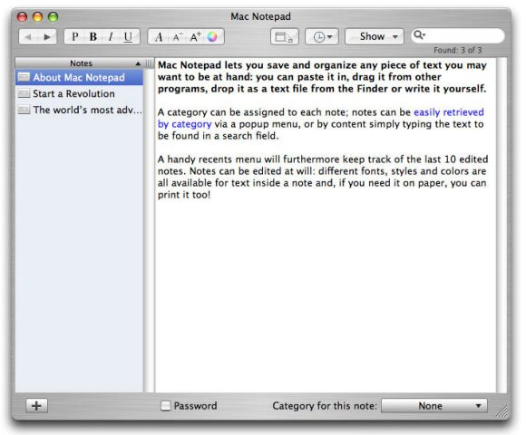 Mac Notepad